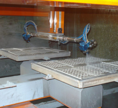 5 axis spray painting machine with 4 support tray