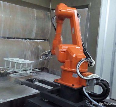 6 axis painting robot and rotary table